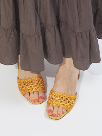 【WEB限定】メッシュ編みミュールサンダル
