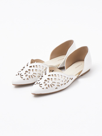 OUTLET (Ladie's) - 【販売店舗限定】カットワークセパレートパンプス