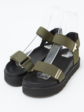 OUTLET (Ladie's) - 【販売店舗限定】厚底スポーツサンダル
