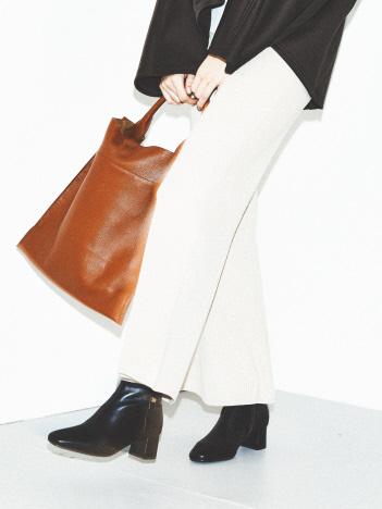 【スノーソール】5cmスクエアトゥショートブーツ