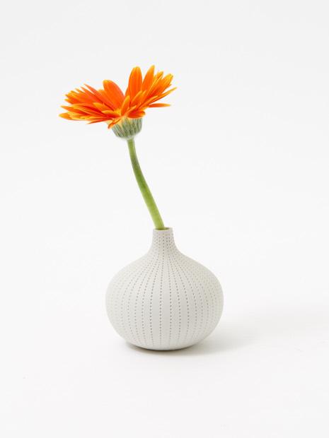 フラワーベース dorop vase white