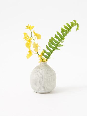 collex - フラワーベース ポッテリvase white