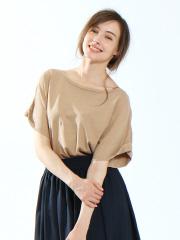 collex - 顔料染めパフスリーブカットソー