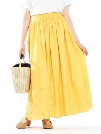 collex - スカラップ刺繍スカート
