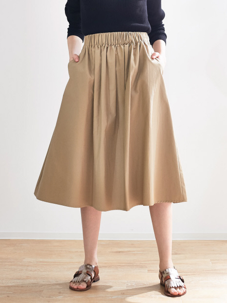 ミモレギャザースカート