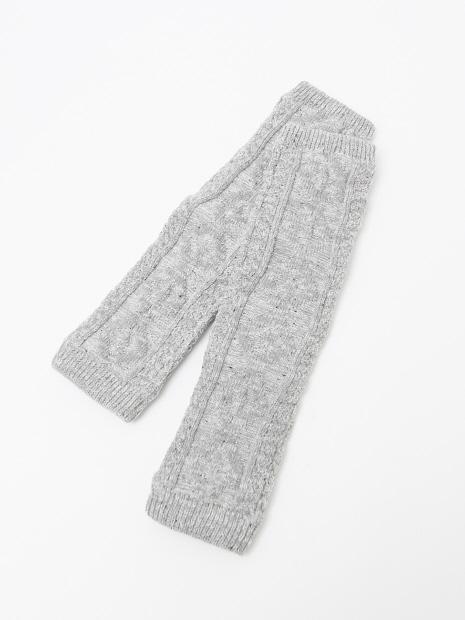 DAI・内側シルク編みレッグウォーマー