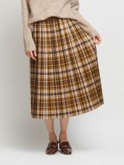 チェックプリーツスカート