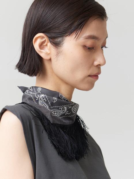 【COCUCA】バンダナフリンジスカーフ