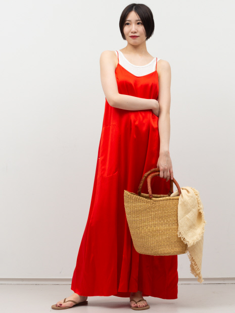 【extreme cashmere】シルクサテンドレス