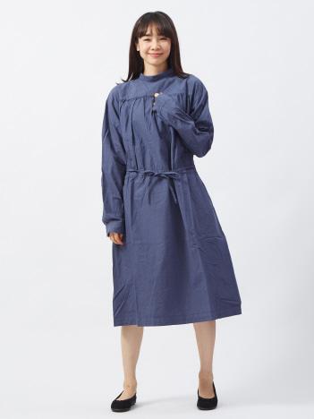 【yarmo】 バックオープンスモックドレス