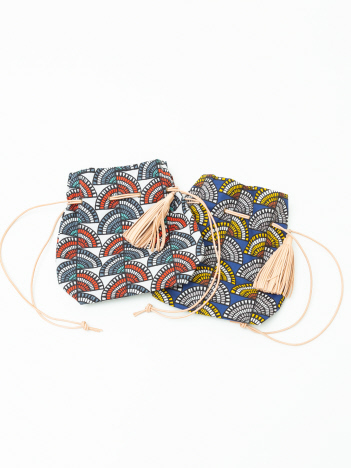 【MORMYRUS】総柄パターン 巾着 バッグ