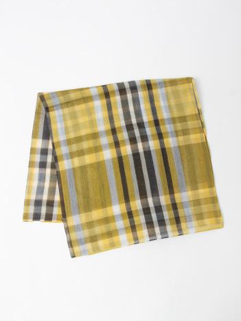 綿シルクチェックスカーフ