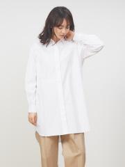 collex - ストライプ/デニムチュニックシャツ