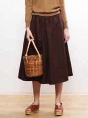 collex - ストライプギンガムギャザースカート