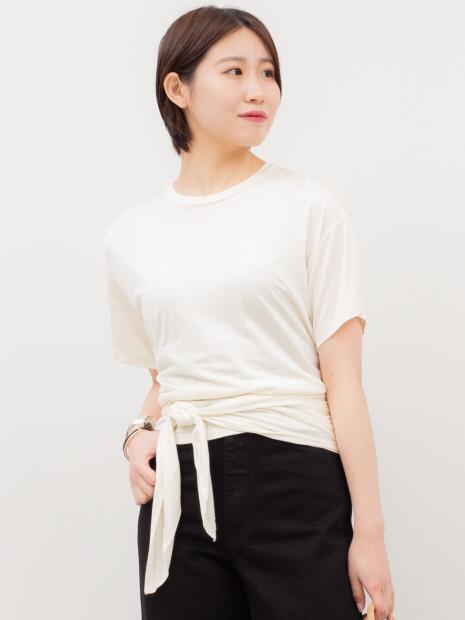 【COCUCA】バックオープンジャージーTシャツ