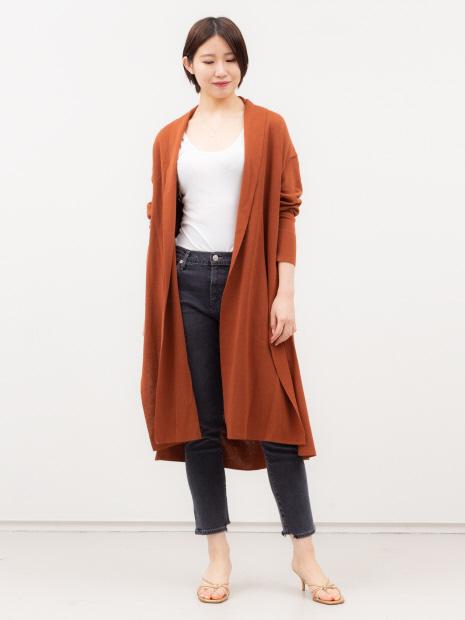 【COCUCA】ロング羽織りカーディガン