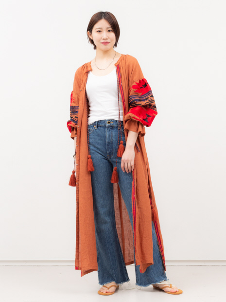 【COCUCA】刺繍マキシドレス