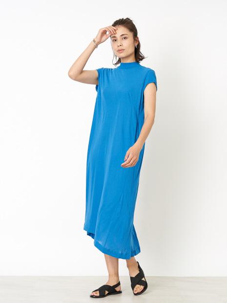 【ALWEL/オルウェル】ショートスリーブスウィングドレス