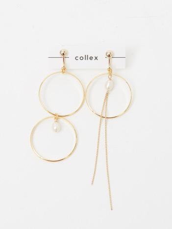 collex - 【SUMMERALL】アシンメトリーサークル淡水イヤリング