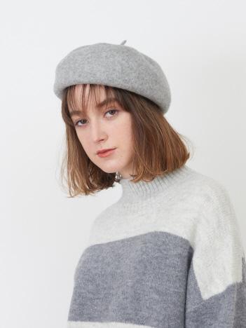 collex - 【+2%あたたかい】メリノウール ころころ ベレー帽