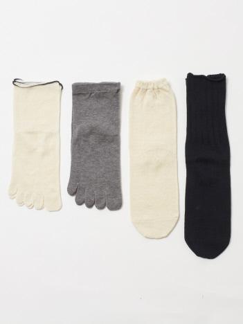 collex - 《冷えとり》4足重ね履き靴下