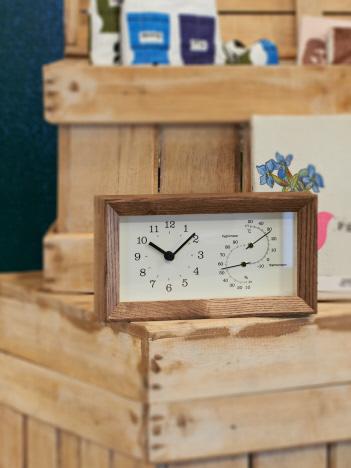 【LEMNOS/レムノス】FRAME 温湿度計時計