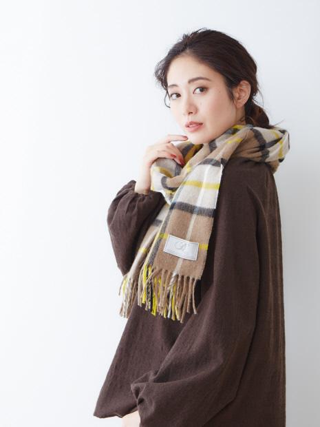 【BRONTE BY MOON 】メリノウール チェックストール