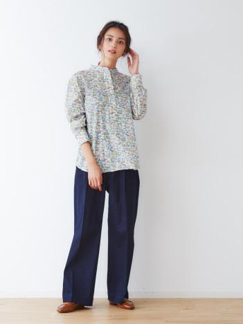 【LIBERTY /リバティー】スタンドカラーシャツ