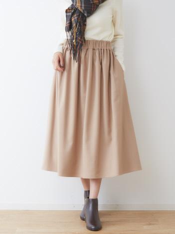 collex - 【手洗い可】TR 前後2WAY ミモレスカート
