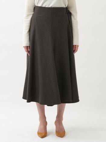 【ATON】ベルテッドラップスカート