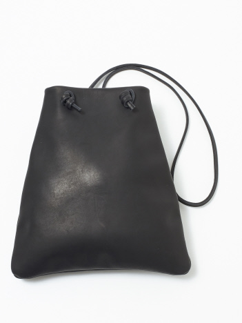 collex - 【MORMYRUS】 レザーショルダーバッグ  trapezoid bag