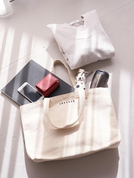 【WEB限定】【THE CASE】 キャンバスショルダートートバッグ