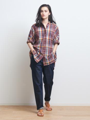 【WEB/一部店舗限定】チェックドルマンシャツ