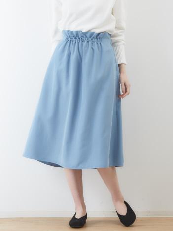 【手洗い可】ミモレギャザースカート