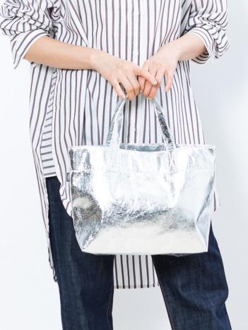 collex - 《定番人気》 メタリックミニトートバッグ