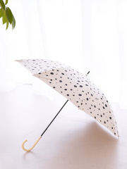【今年も登場!】晴雨兼用 日傘 ドット柄 長傘
