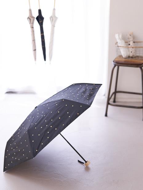 【今年も登場!】晴雨兼用 日傘 ドット柄 折り畳み傘
