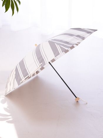 【今年も登場!】晴雨兼用 日傘 ミックススストライプ折り畳み傘