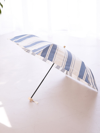 collex - 【今年も登場!】晴雨兼用 日傘 ミックススストライプ折り畳み傘