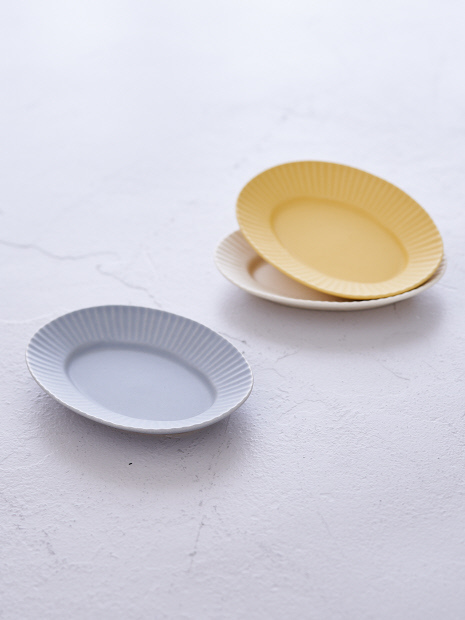 【SAKUZAN】作山窯 StripeオーバルプレートS
