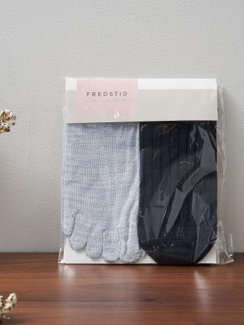 collex - 【絹屋】2足重ね履き靴下 シルクと綿