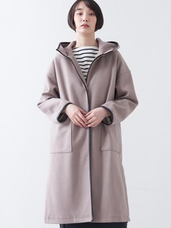 collex - フード付ビッグポケットパイピングコート