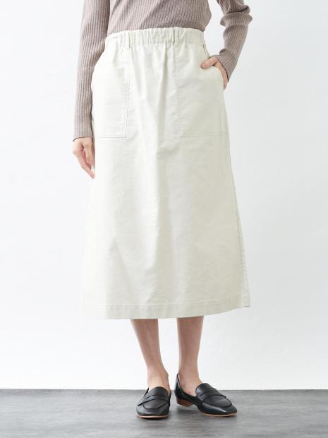 【nicholson&nicholson】Aライン綿サテンスカート