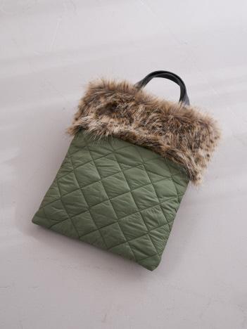 collex - 【HELLEN MOORE/ヘレンムーア】 エコファーキルティングバッグ