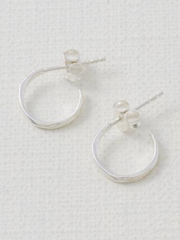 collex - 【Pisceans/ピッシェアンス】Wave-Line hoop Pierce(silver)