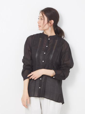 collex - ピンタックレースシャツ