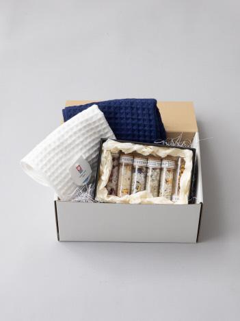 【ギフト専用商品】GIFT SET 501『お風呂時間が充実するタオルとバスソルトセット』