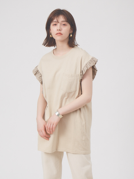 【Dahl'ia/ダリア】frill sleeve tops フリルスリーブトップス