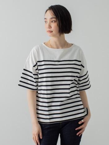 collex - パネルバスクボーダーTシャツ