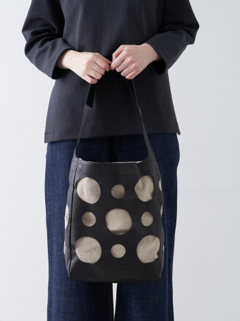 collex - 【Ampersand】 hole leather tote M ホールレザートートバッグM